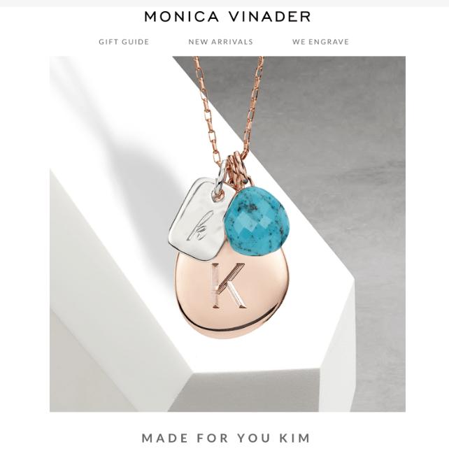 Monica Vinadeer email example