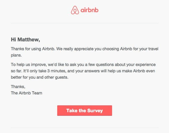 Air Bnbs Email Marketing Strategy example