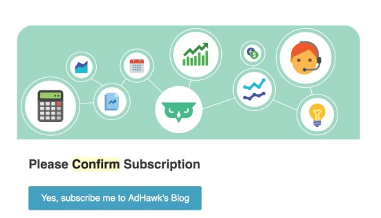 Adhawk opt-in email