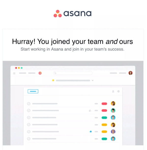 """Hurray You Joined the Team"" Welcome email"