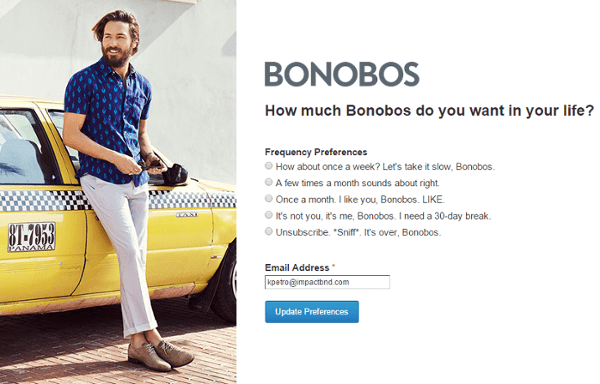 Bonobos offer email
