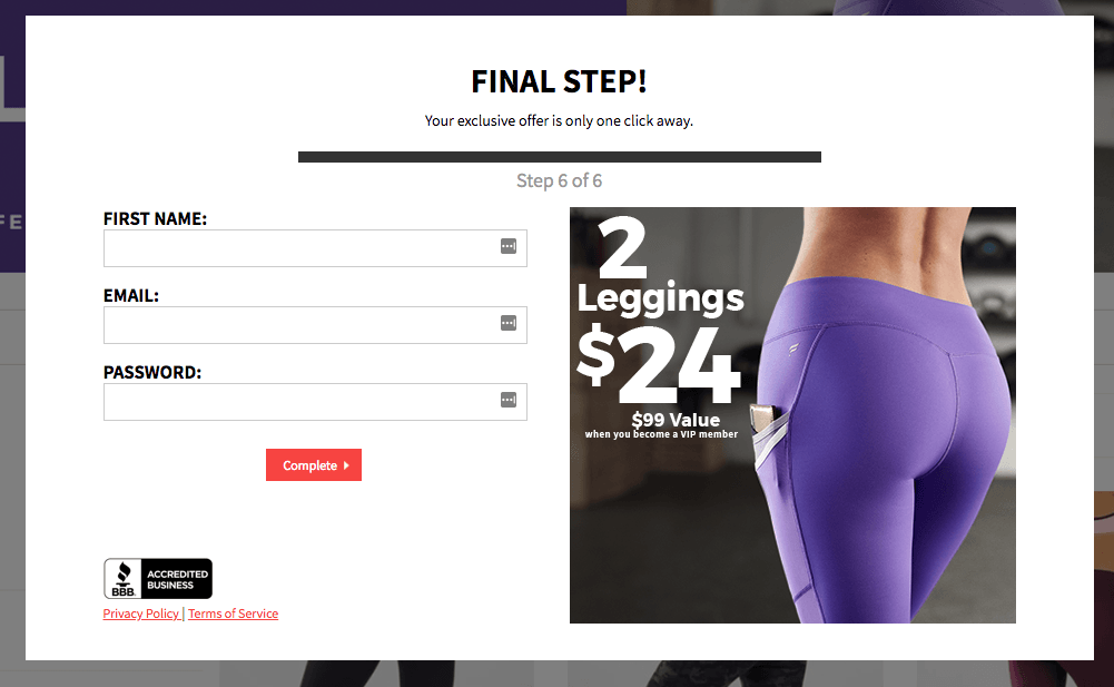 fabletics email signup