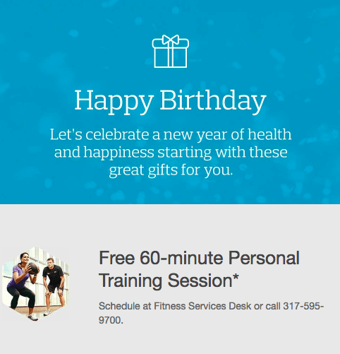 Happy Birthday email offer