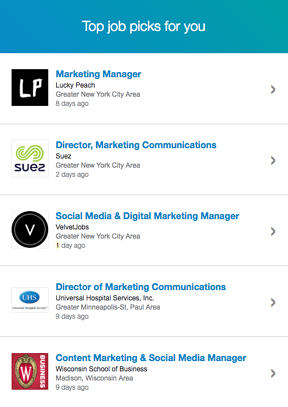 LinkedIn top career picks email