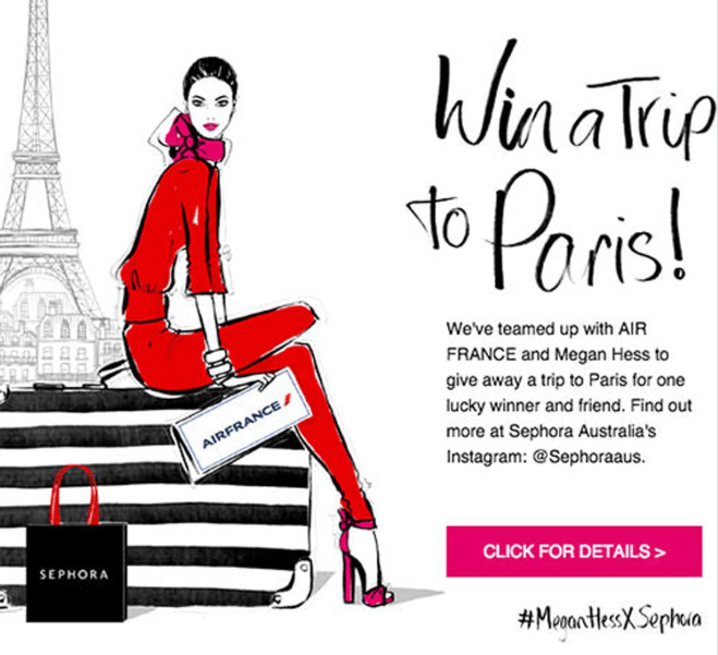 Sephora trip to Paris competition