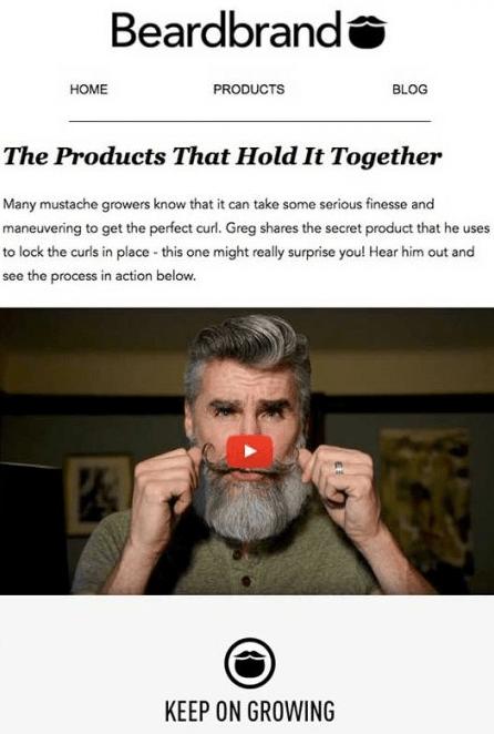 Beardbrand email