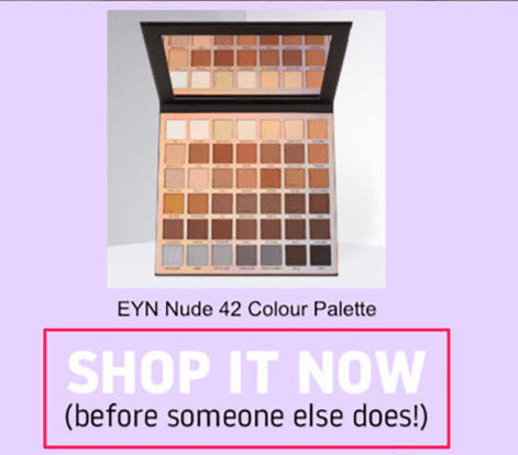"Beauty Bay email - ""Shop it now before someone else does"""