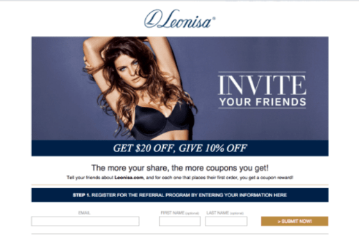 Leonisa referral email reminder