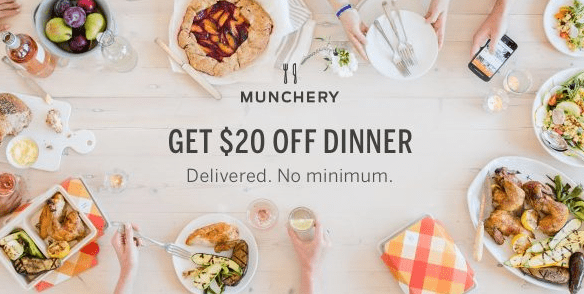 Munchery referral email campaign with hero image