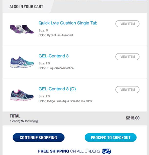 Asics shoe email
