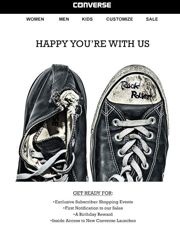 Converse welcome email
