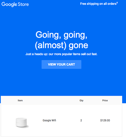 Google Fomo email