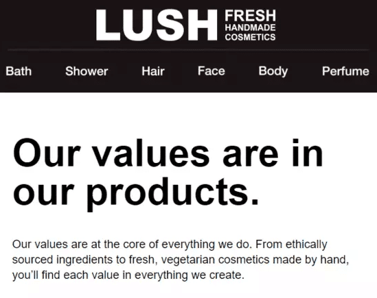 Lush email engagement