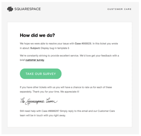 Squarespace email